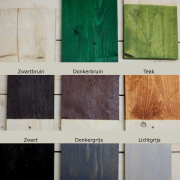 Kleuren beits vurenhout